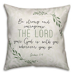 Green Strong and Courageous Pillow