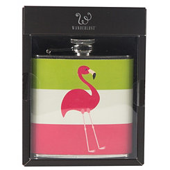 Striped Flamingo Flask
