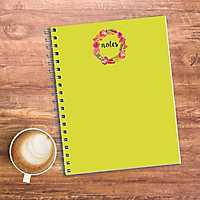Green Notes Floral Journal