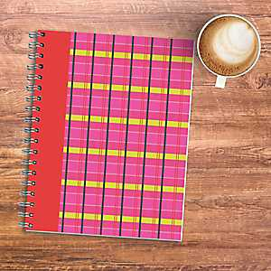 Pink Plaid Wired Journal