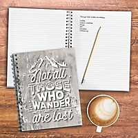 Wanderlust Gray Wired Journal
