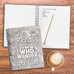 Wanderlust Gray Wired Journal