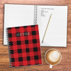 Red Buffalo Plaid Wired Journal