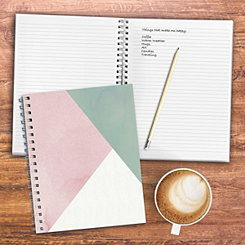 Blush Colorblock Wired Journal