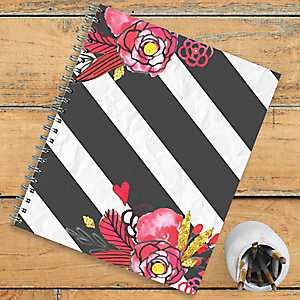 Floral Stripe Non-Dated Planner