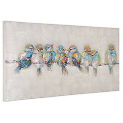 Hand Painted Afternoon Gathering Canvas Art Print