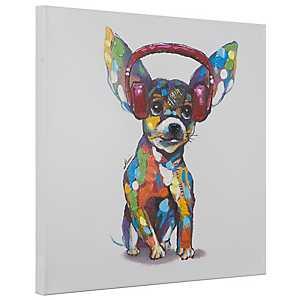 Dog Beats IV Hand Painted Canvas Art Print