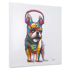 Dog Beats II Hand Painted Canvas Art Print