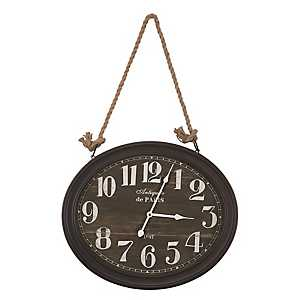 Corde Black Roped Wall Clock