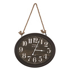 Corde Black Roped Wall Clock