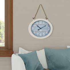At the Beach White Roped Wall Clock