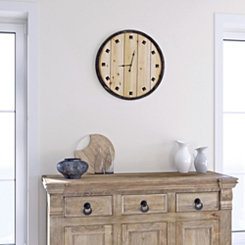 Bastide du Provence Wood Wall Clock