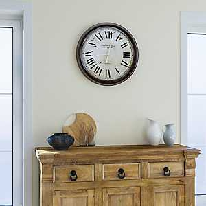 Beaumont Black and White Wall Clock