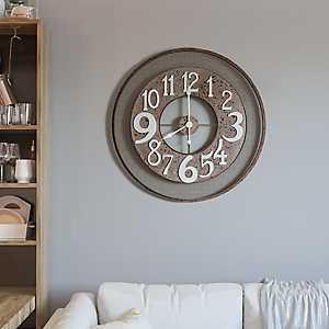 Industrial Rose Metal Wall Clock