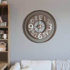 Industrial Rose Metal Wall Clock