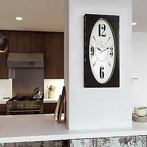 Speakeasy Distressed Brown Rectangular Wall Clock
