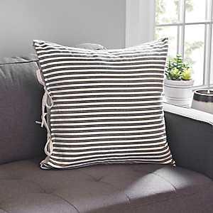 Black Ticking Stripe Pillow
