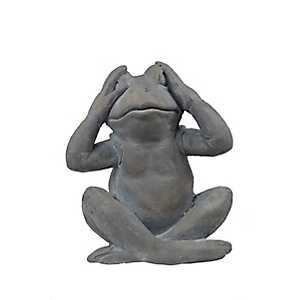 See No Evil Frog Statue