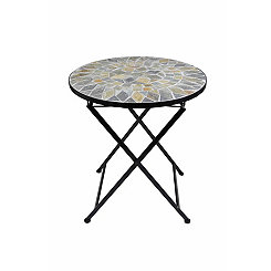 Mosaic Round Outdoor Side Table