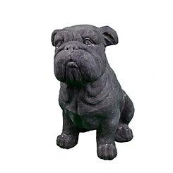 Faux Stone Bulldog Statue