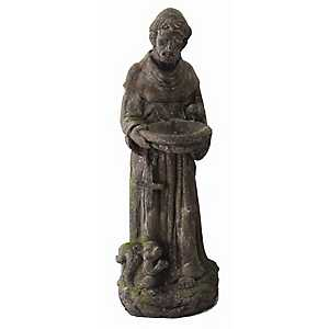 Rustic St. Francis Garden Statue