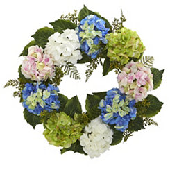 Multicolor Hydrangea Wreath