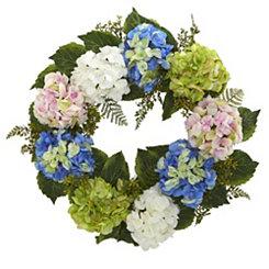 Multicolor Hydrangea Wreath