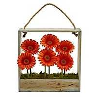 Orange Gerber Daisy Arrangement in Hanging Planter
