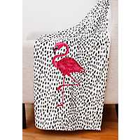 Galliano Flamingo Micromink Throw Blanket