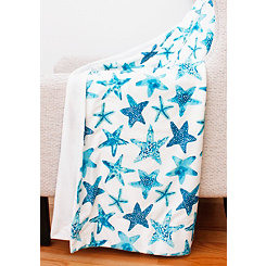 Todra Starfish Micromink Throw Blanket