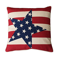 Natural Stars and Stripes Pillow
