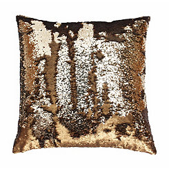 Copper Mermaid Reversible Sequin Pillow