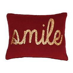 Merlot Gold Smile Pillow