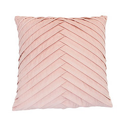 Rose Pleated Velvet Pillow