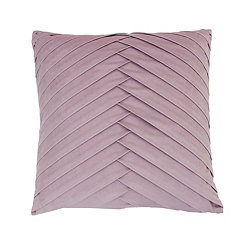Purple Pleated Velvet Pillow