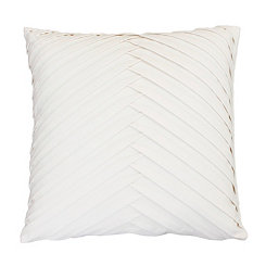 White Pleated Velvet Pillow