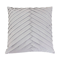 Gray Pleated Velvet Pillow