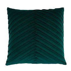 Green Pleated Velvet Pillow