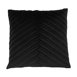 Black Pleated Velvet Pillow