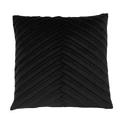 Black Pleated Velvet Pillow