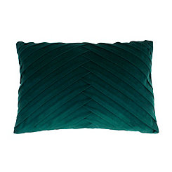 Green Pleated Velvet Accent Pillow