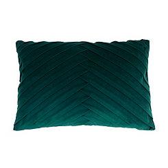 Green Pleated Velvet Accent Pillow