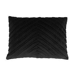 Black Pleated Velvet Accent Pillow