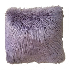 Purple Mongolian Fur Pillow