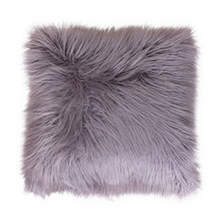 Purple Mongolian Fur Large Square Pillow