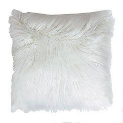 White Mongolian Fur Oversized Pillow