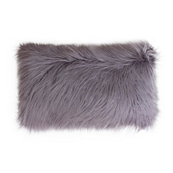 Purple Mongolian Fur Long Accent Pillow