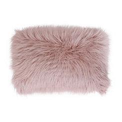 Rose Mongolian Fur Long Accent Pillow