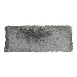 Silver Mongolian Fur Body Pillow