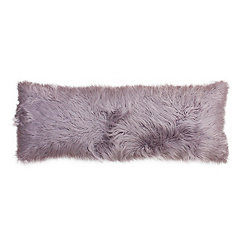 Purple Mongolian Fur Body Pillow